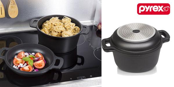 Pyrex 24cm Duo+ cacerola y asador chollazo en Amazon