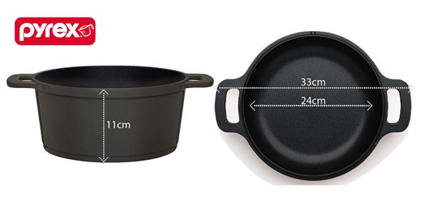Pyrex 24cm Duo+ cacerola y asador baratos en Amazon
