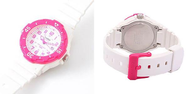 Reloj Casio LRW-200H-4B blanco y rosa