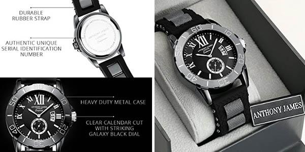 reloj de pulsera para hombre Anthony James relación calidad-precio brutal