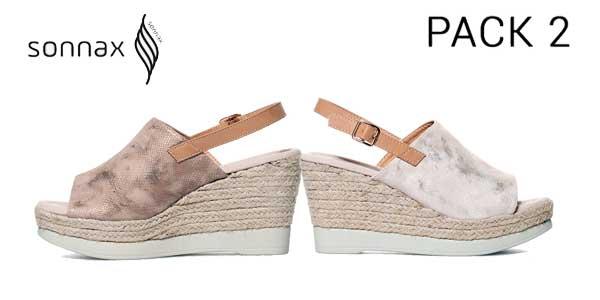 Pack 2 pares de sandalias de cuña Sonnax chollo en eBay
