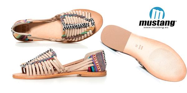 Sandalias de piel Mahi de Mustang chollazo en eBay