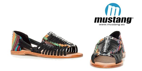 Sandalias de piel étnicas Mahi de Mustang chollazo en eBay
