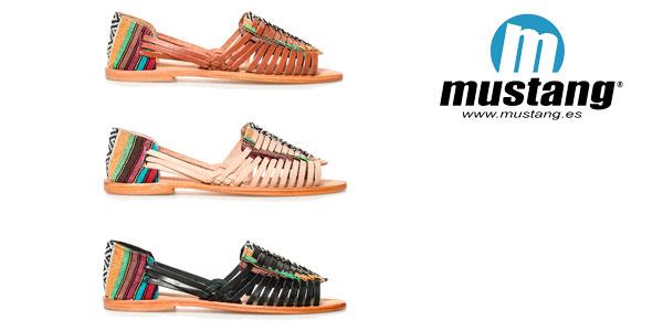 Sandalias de piel Mahi de Mustang chollo en eBay