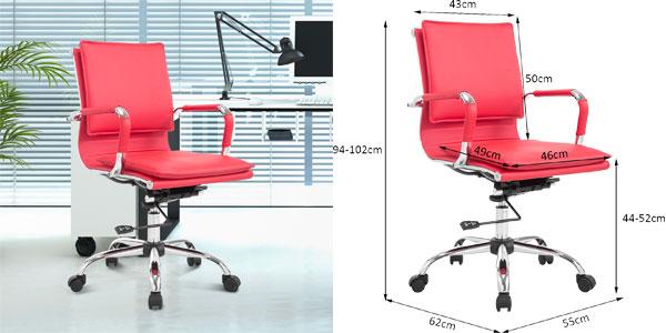 Silla de oficina ergonómica Aosom chollazo en eBay