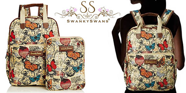 Swankyswans Atlantis Butterfly Map Essex mochila casual con funda para iPad barata