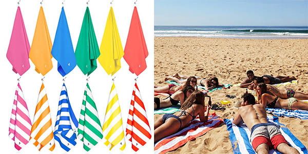 toalla microfibra de playa y viaje extra grande barata