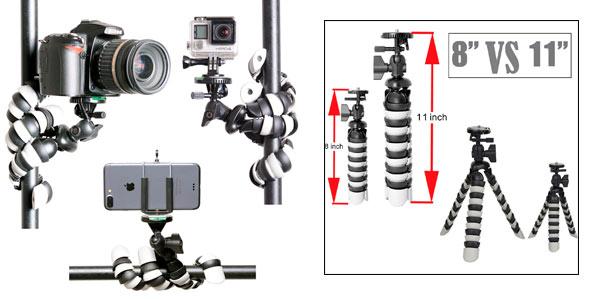 Trípode flexible Octopus 3 en 1 con adaptador smartphone a buen precio en Amazon