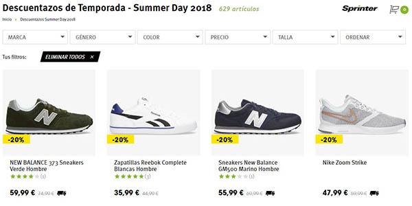 zapatillas y complementos deportivos rebajados Sprinter