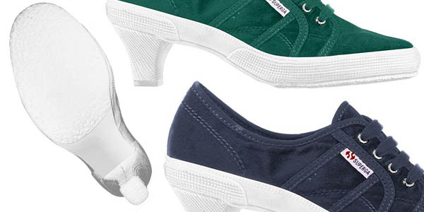 zapatos cómodos para mujer Superga Low Heel Heritage
