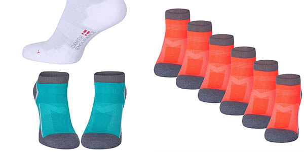 3 pares de calcetines tobilleros transpirables reforzados