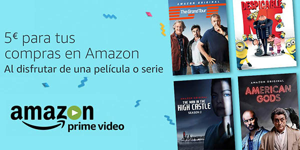 5€ de descuento Amazon por ver una serie o peli gratis con Prime Video
