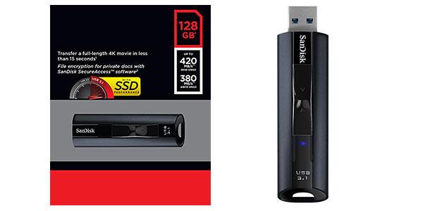 Memoria flash USB 3.1 de estado sólido SanDisk Extreme PRO 128 GB al mejor precio