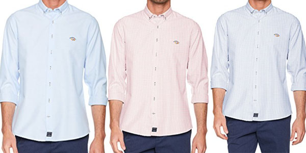 spagnolo camisa a cuadros y lisa con colores variados
