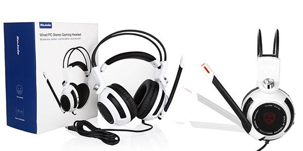 Auriculares gaming CoJoie para PC y PS4 blancos al mejor precio
