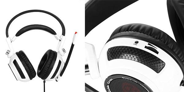 Auriculares gaming Cojoie estéreo con USB, vibración y micro muy baratos