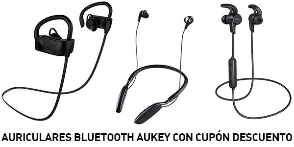 Auriculares bluetooth Aukey con cupón descuento