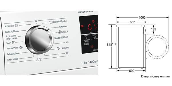 Bosch WAT28491ES lavadora 9 Kg barata