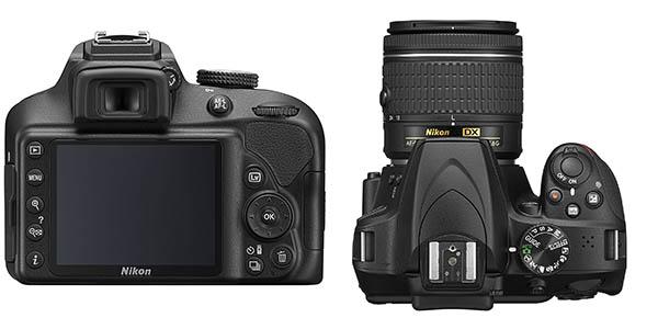 Nikon D3400 con objetivo AF-P DX 18-55MM VR