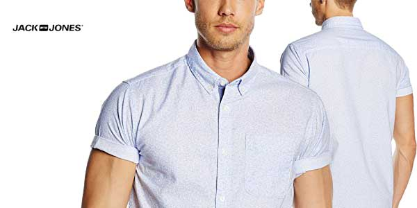 Camisa manga corta para hombre david de jack & Jones chollo en Amazon