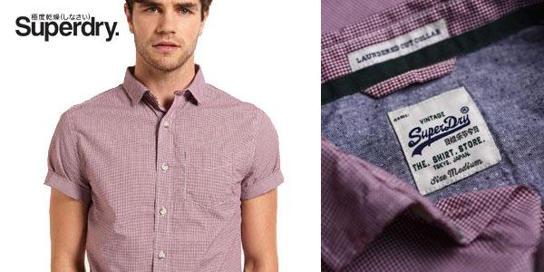 Camisa Laundered Summer Hounds Burgundy de Superdry chollazo en eBay