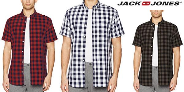 camisas de cuadros manga corta Jack & Jones Joralexander para hombre baratas
