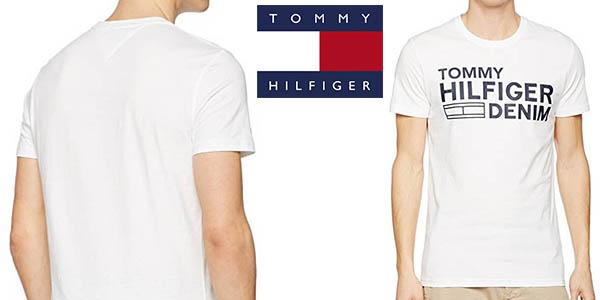 camiseta Tommy Hilfiger para hombre de manga corta barata