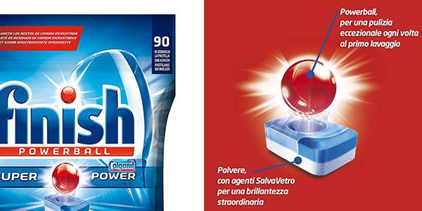 cápsulas Finish Powerball Todo en 1 bolsa para 110 lavados de lavavajillas