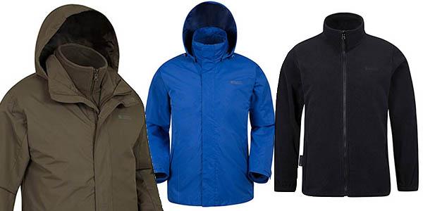 chaqueta montaña Mountain Warehouse 3 en 1 gran relación calidad-precio