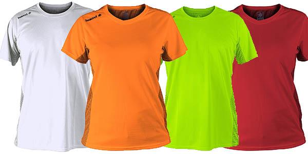 conjunto 5 camisetas técnicas Luanvi Nocaut en diferentes colores chollo