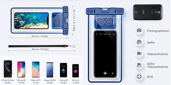 funda impermeable universal para teléfono móvil Mpow oferta