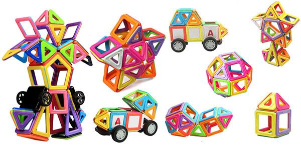 Juego educativo de bloques magnéticos para niños Innoo Tech de 77 piezas muy barato