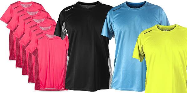 Luanvi Nocaut Plus Cro Pack 5 camistas de entrenamiento para hombre o para mujer baratas