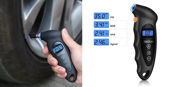Manómetro digital para neumáticos barato en Amazon
