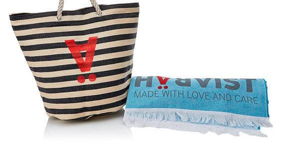 Maxi toalla de playa + capazo Harvïst a buen precio en Amazon