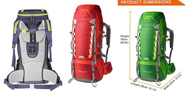 mochila Mountaintop senderismo de 60 litros oferta Amazon