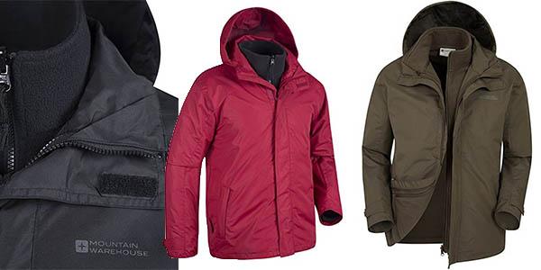 Mountain Warehouse chaqueta senderismo con polar para hombre barata