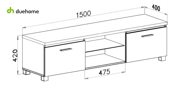 Mueble modular DueHome barato en Amazon