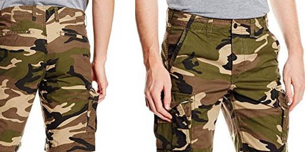 pantalones cortos con estampado militar tipo cargo Jack and Jones chollo