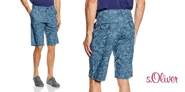 pantalones cortos s.Oliver Alloverprint chollazo en Amazon