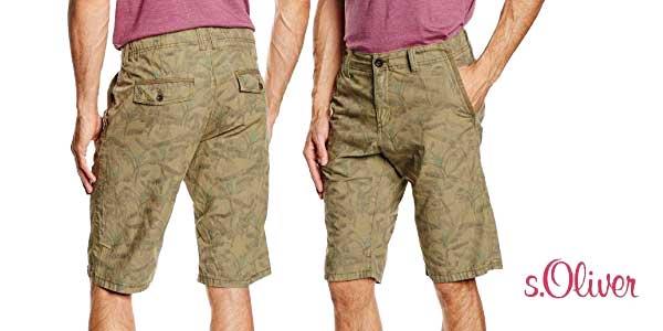 pantalones cortos s.Oliver Alloverprint chollo en Amazon