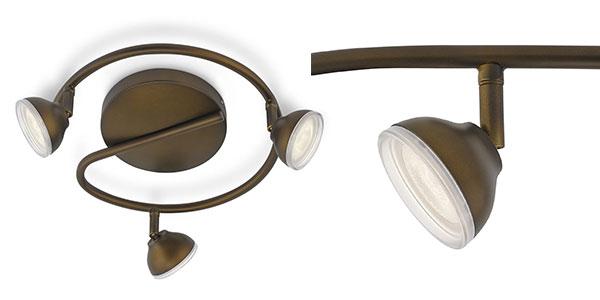 Plafón Philips MyLiving Toscane de 3 luces LED al mejor precio en Amazon