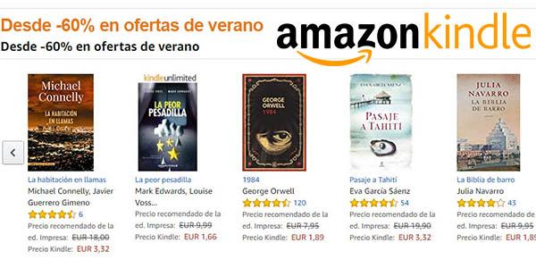 Promoción Ofertas de verano eBooks Kindle Amazon julio 2017