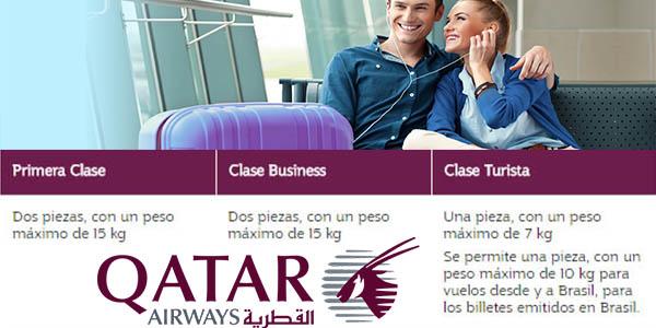 Qatar Airways equipaje de mano permitido