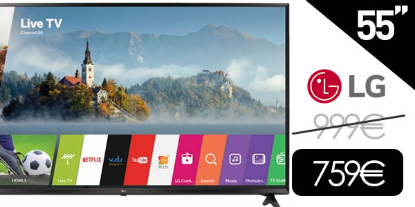 "Smart TV LG 55UJ630V de 55"" UHD 4K"