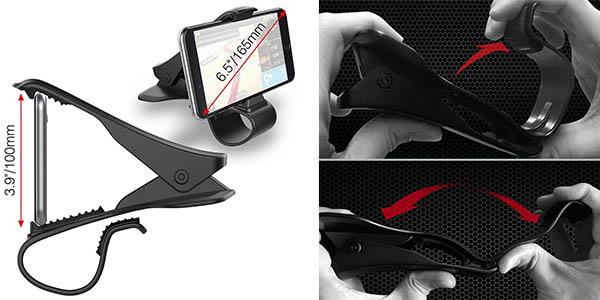 soporte para coche ajustable al móvil chollo