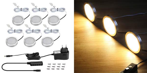 tiras LED independientes bajo muebles genial relación calidad-precio