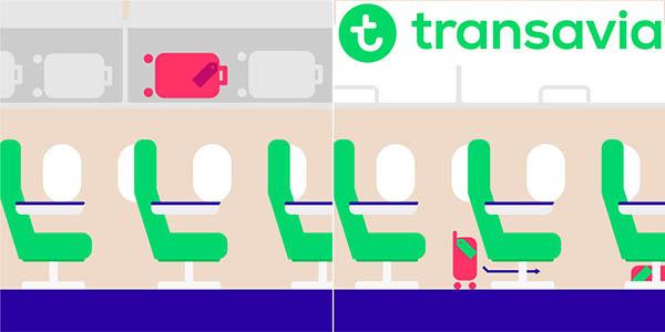 Transavia equipaje de mano medidas