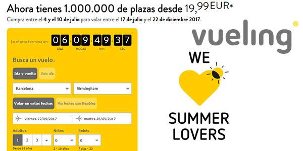 Vueling promoción Summer Lovers vuelos baratos