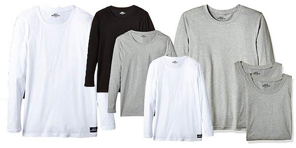 3 camisetas de algodón manga larga con relación calidad-precio brutal